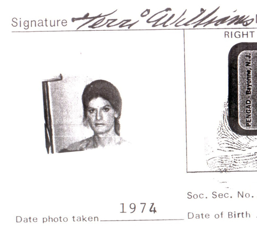 Download the full-sized image of Terri Williams' Identification (1974)