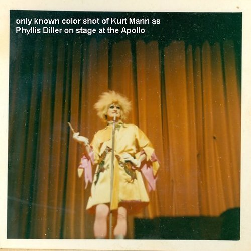 Download the full-sized image of Kurt Mann as Phyllis Diller on Stage