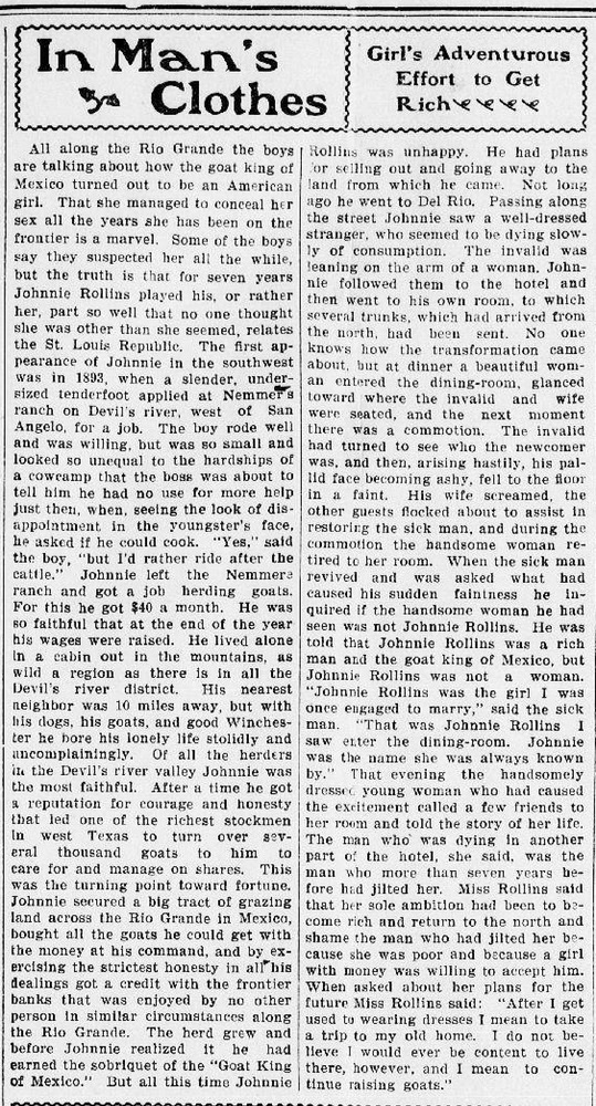 Download the full-sized PDF of In Man's Clothes (The Phillipsburg Mail 1901-03-29)