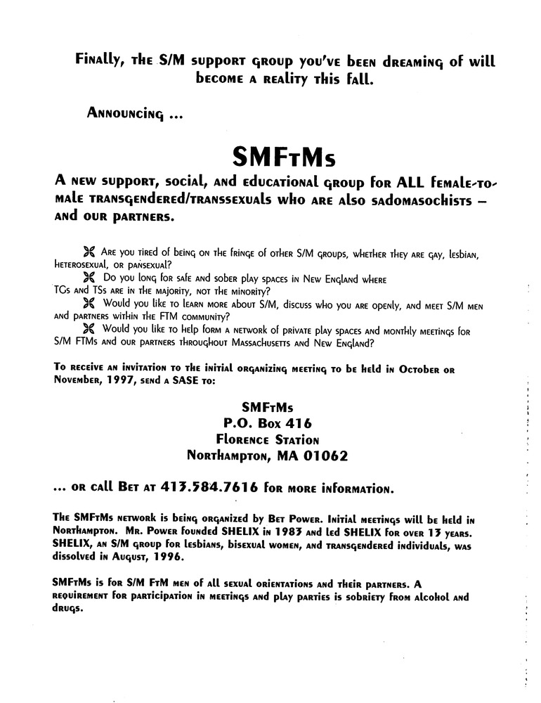 Download the full-sized PDF of SMFTtMs Announcement