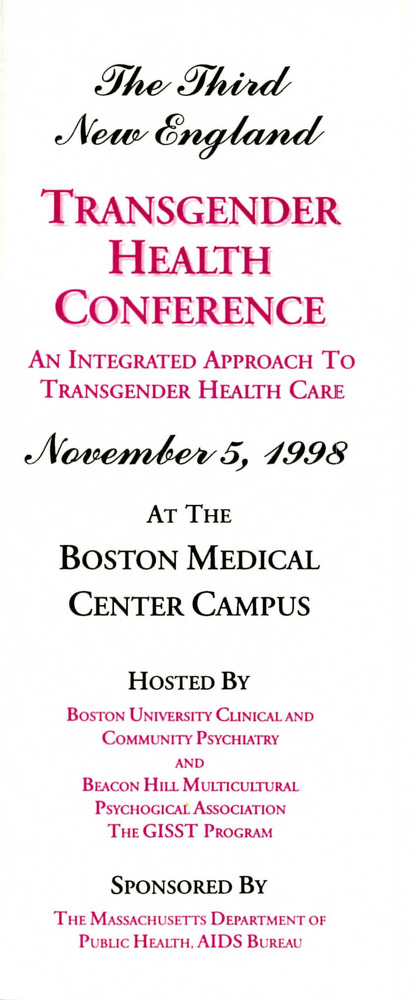 Download the full-sized PDF of The Third New England Transgender Health Conference November 5, 1998