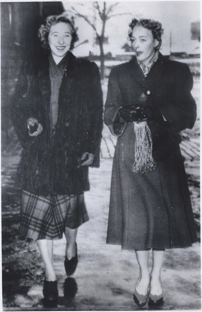Download the full-sized image of Christine Jorgensen Walks with a Friend in Denmark