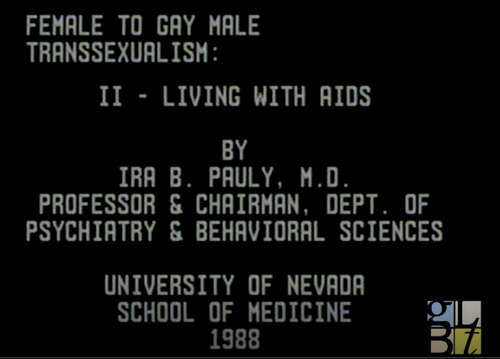 Download the full-sized image of Female to Gay Male Transsexualism: II - Living with AIDS