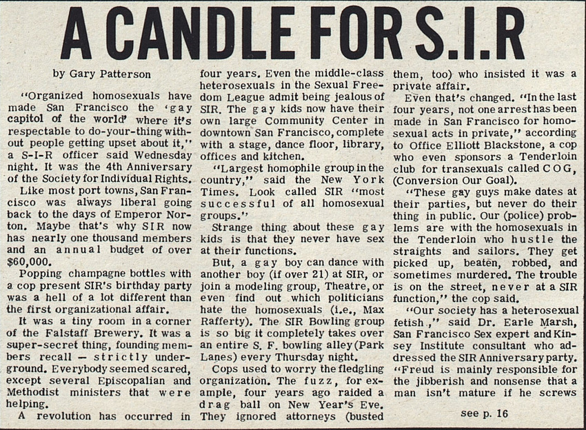 Download the full-sized image of A Candle for S.I.R.