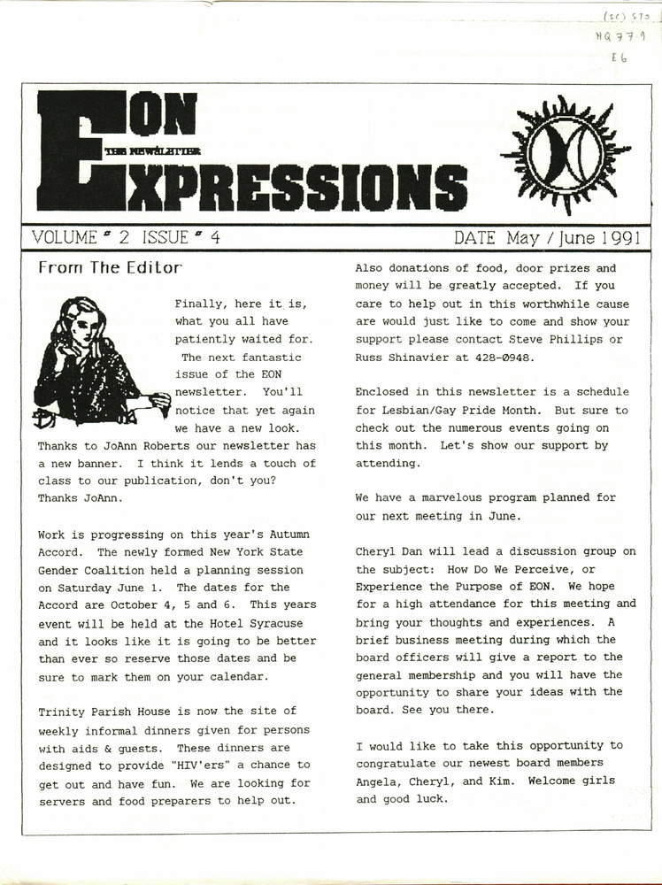 Download the full-sized PDF of Expressions: The EON Newsletter Vol. 2 Issue 4 (May/June 1991)