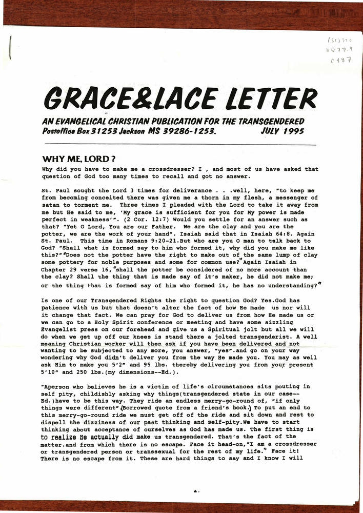 Download the full-sized PDF of Grace and Lace Letter Issue E (July, 1995)