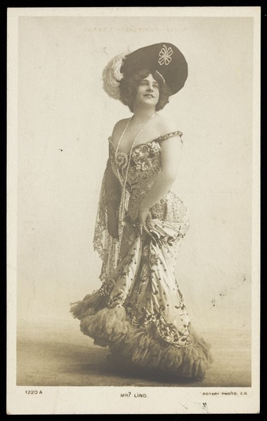 Download the full-sized image of John Lindstrom in drag. Photographic postcard, 19--.