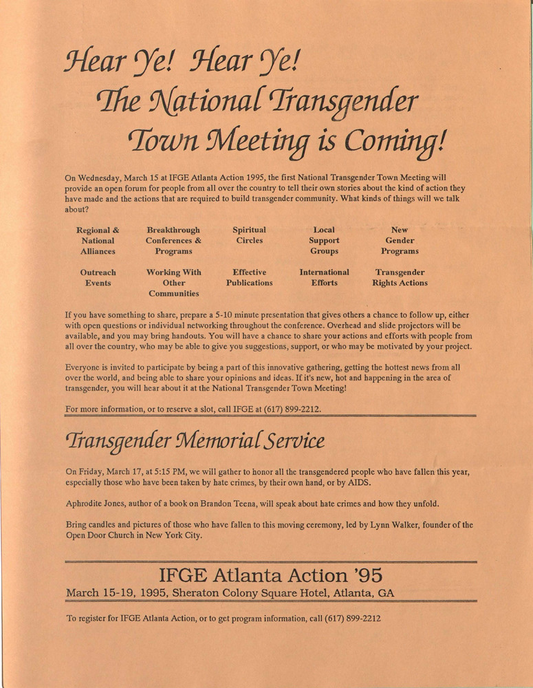 Download the full-sized PDF of Hear Ye! Hear Ye! The National Transgender Town Meeting is Coming!