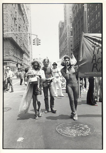 Download the full-sized image of Street Transvestites Action Revolutionaries at the Christopher Street Liberation Day March, 1973
