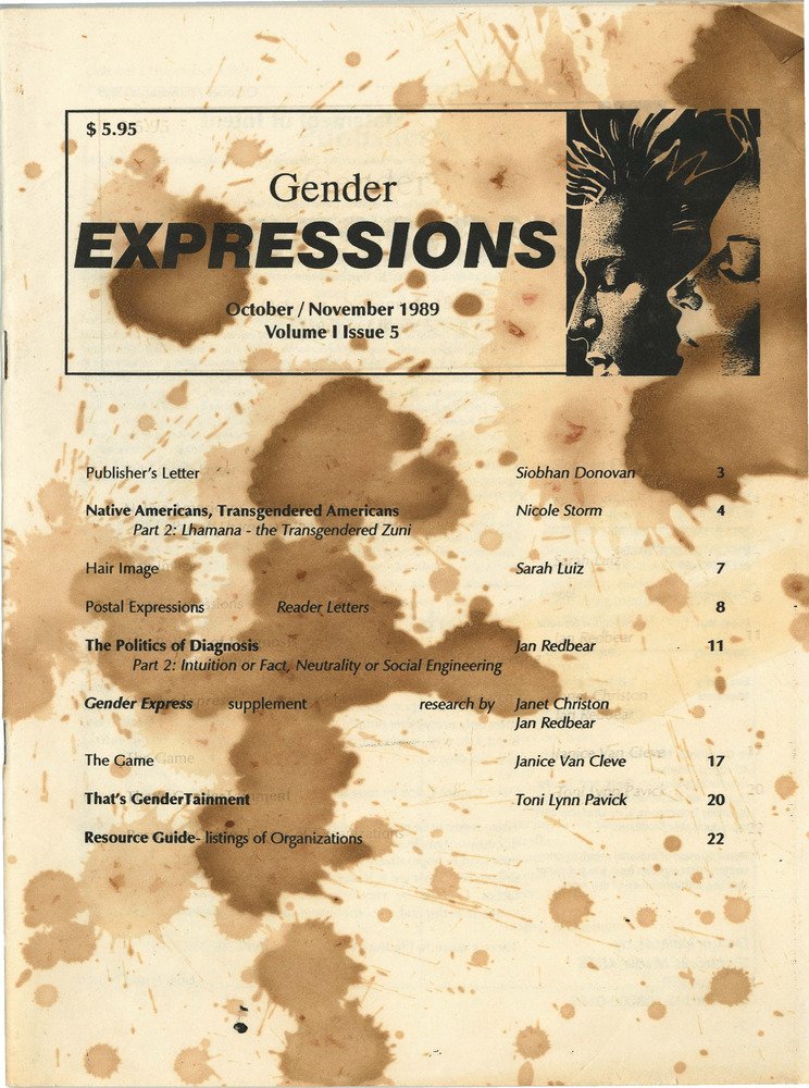 Download the full-sized PDF of Gender Expressions Volume 1 Issue 5 (October/November 1989)