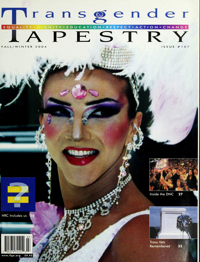 Download the full-sized image of Transgender Tapestry Issue 107 (Fall/Winter, 2004)