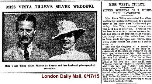 Download the full-sized image of Miss Vesta Tilley's Silver Wedding