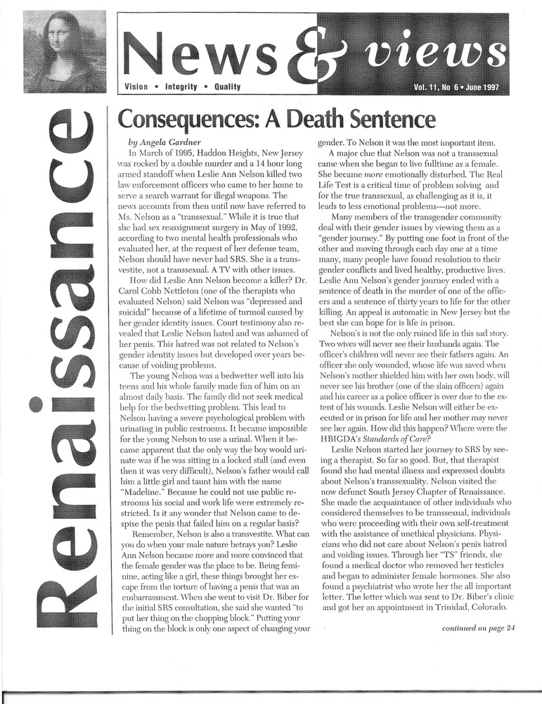 Download the full-sized PDF of Renaissance News & Views Vol. 11, No. 6 (June 1997)