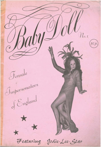 Download the full-sized image of Baby Doll No. 1 Female Impersonators of England Featuring Jodie-Lee-Star (December 1972)