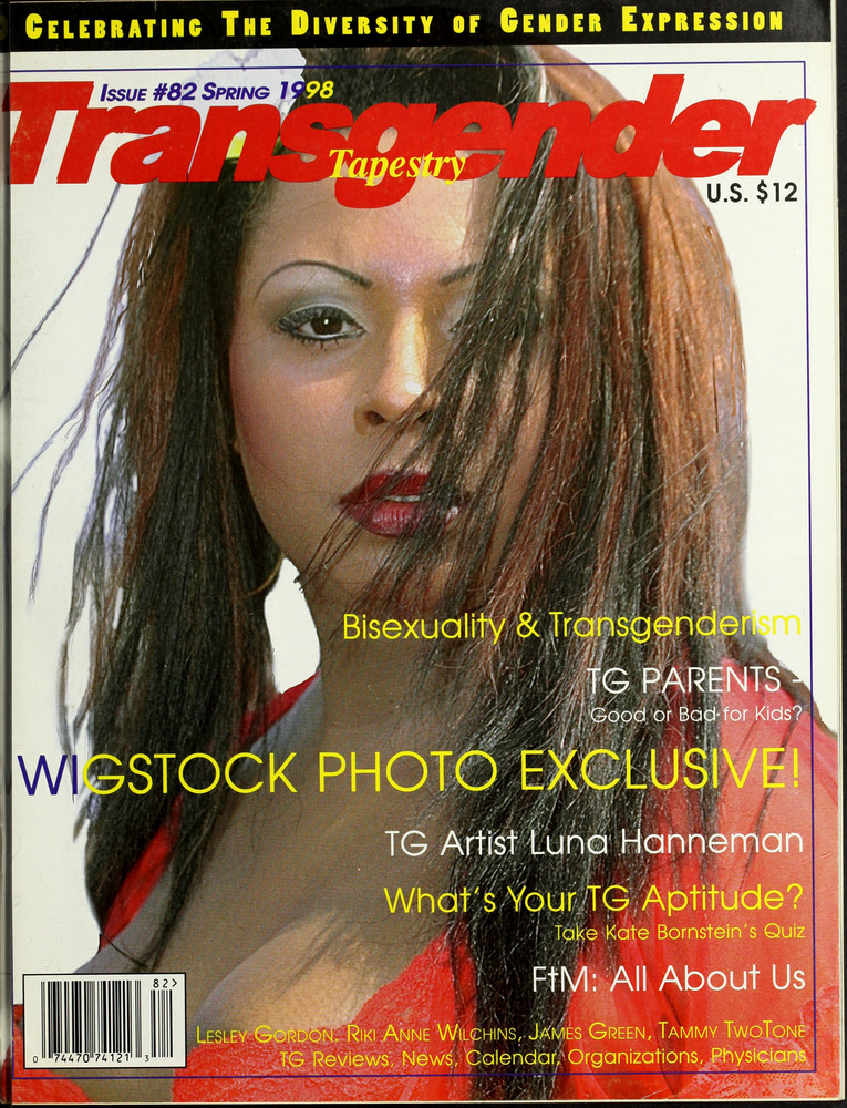 Download the full-sized image of Transgender Tapestry Issue 82 (Spring, 1998)