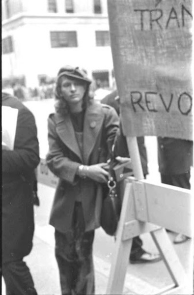 Download the full-sized image of Sylvia Rivera at Gay Liberation Front Demonstration at St. Patrick's Cathedral, 1970