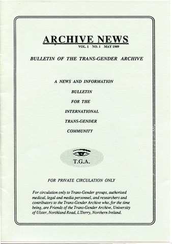 Download the full-sized PDF of Archive News Vol. 1 No. 1 (May, 1989)