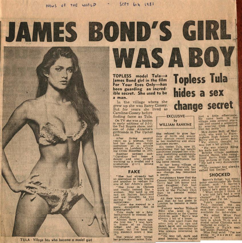 who was the james bond transvestite