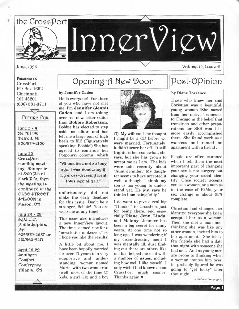 Download the full-sized PDF of  Cross-Port InnerView, Vol. 12 No. 6 (June, 1996)