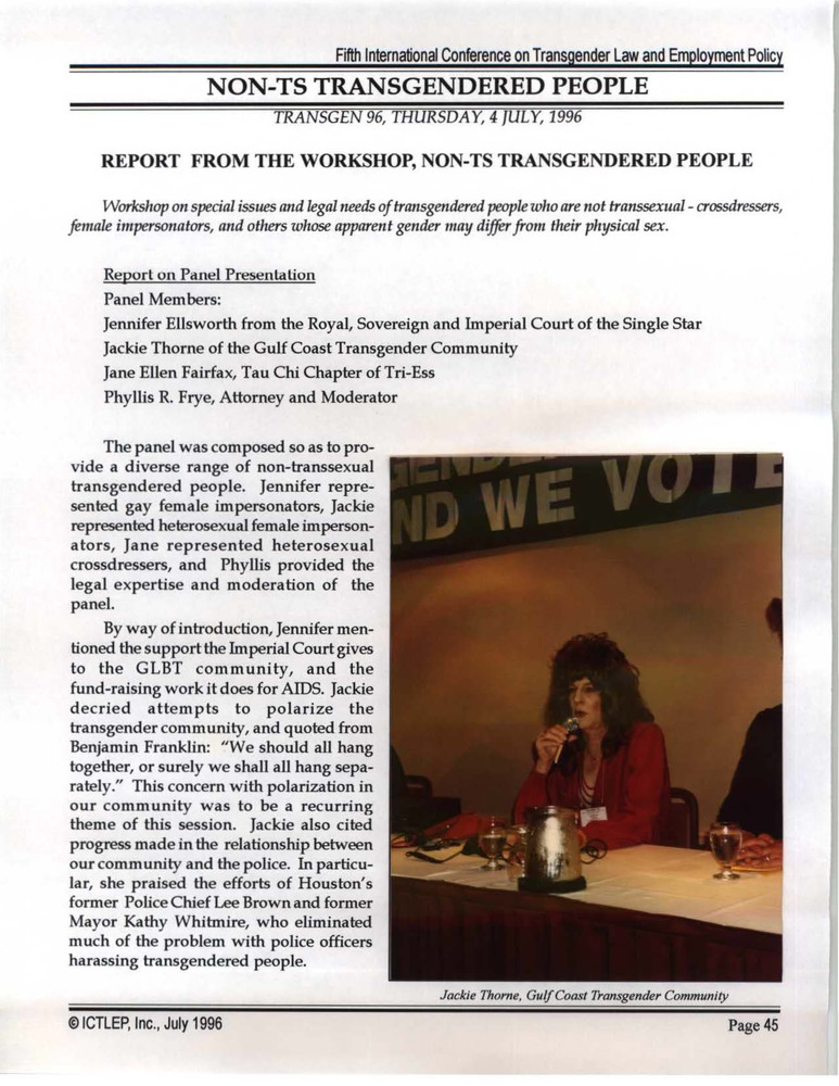 Download the full-sized PDF of Report from the Workshop, Non-TS Transgendered People