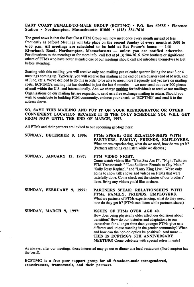 Download the full-sized PDF of December, 1996 - March, 1997 Meeting Reminder