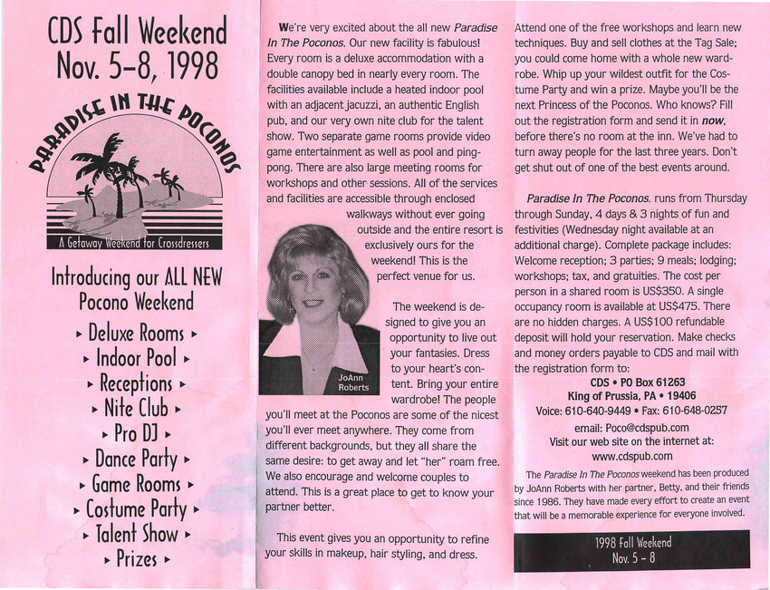 Download the full-sized PDF of CDS Fall Weekend (Nov. 5-8, 1998)