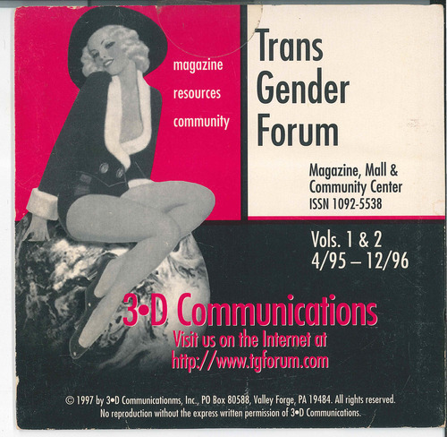 Download the full-sized image of Transgender Forum Compilation CD, Vol. 1 & 2