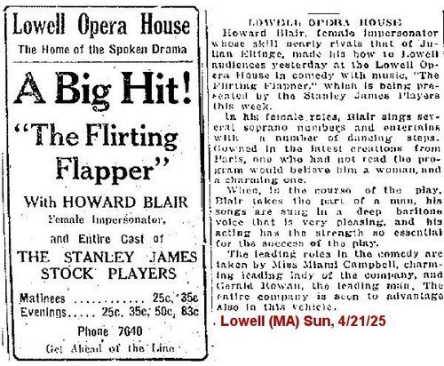 "Download the full-sized image of A Big Hit! ""The Flirting Flapper"" with Howard Blair"