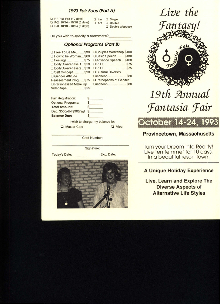 Download the full-sized PDF of Live the Fantasy! 19th Annual Fantasia Fair (Oct. 14 - 24, 1993)