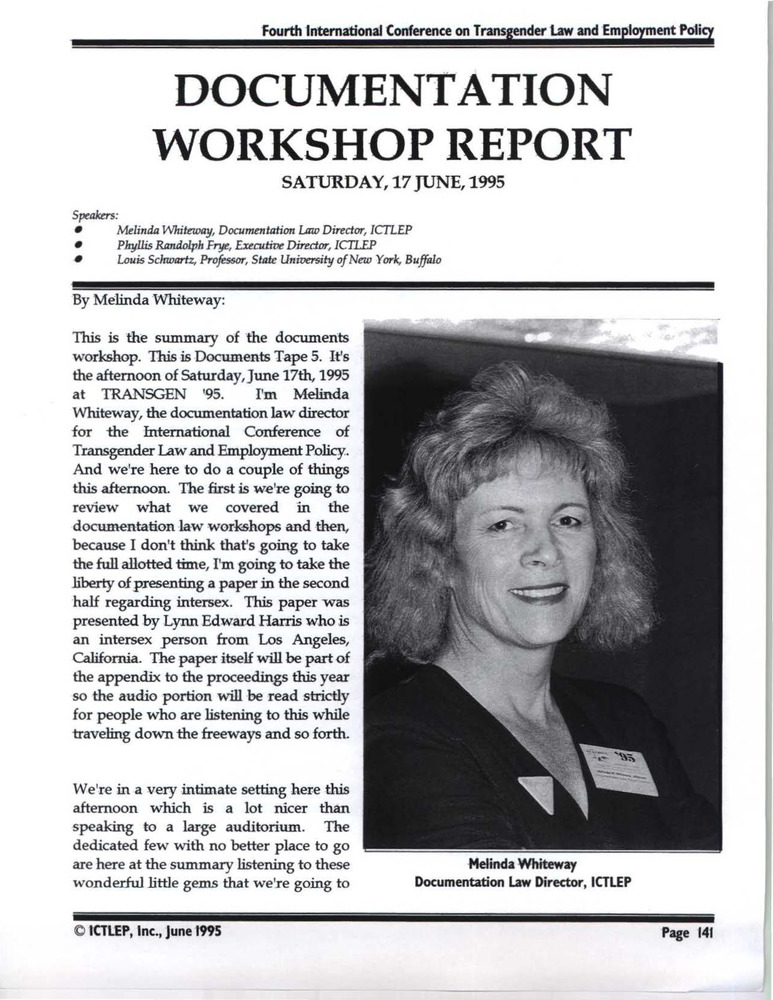 Download the full-sized PDF of Documentation Workshop Report