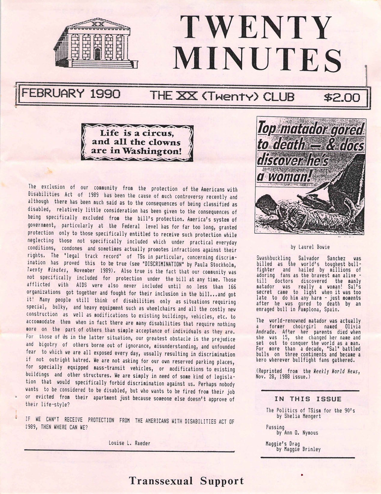 Download the full-sized PDF of Twenty Minutes (February, 1990)