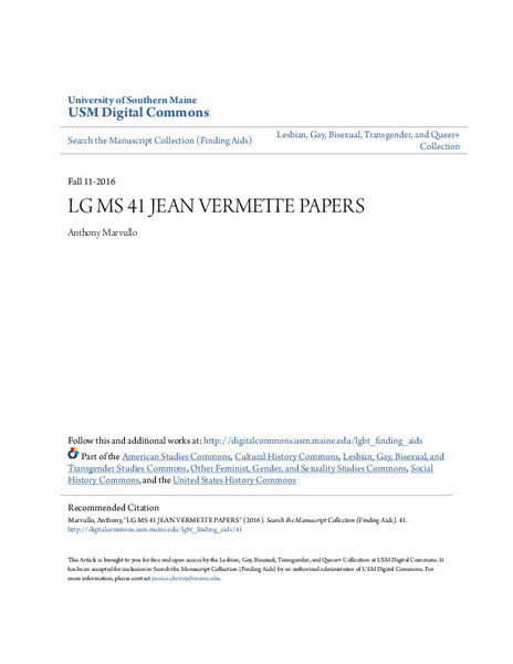 Download the full-sized image of LG MS 41 Jean Vermette Papers