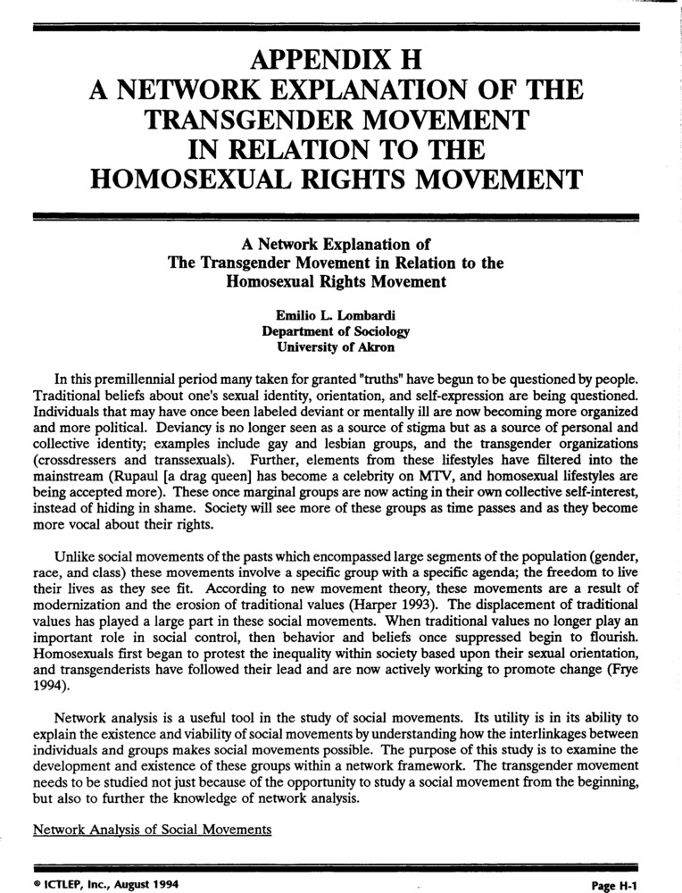 Download the full-sized PDF of Appendix H: A Network Explanation of the Transgender Movement in Relation to the Homosexual Rights Movement