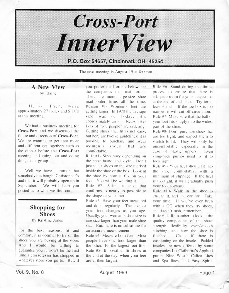 Download the full-sized PDF of Cross-Port InnerView, Vol. 9 No. 8 (August, 1993)