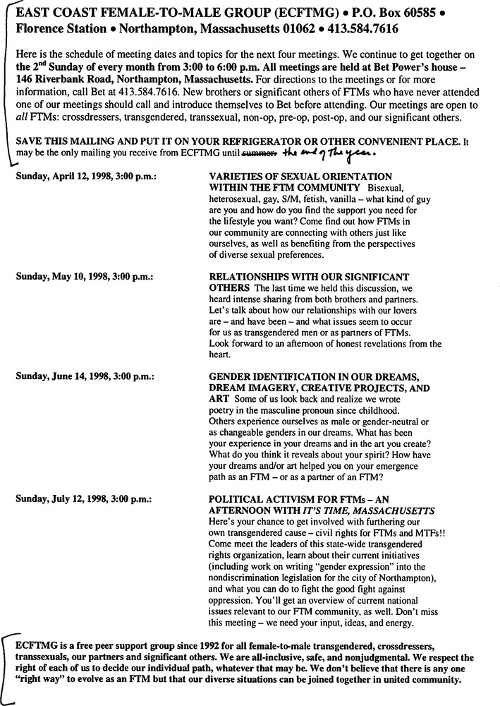 Download the full-sized PDF of April, 1998 - July, 1998 Meeting Reminder