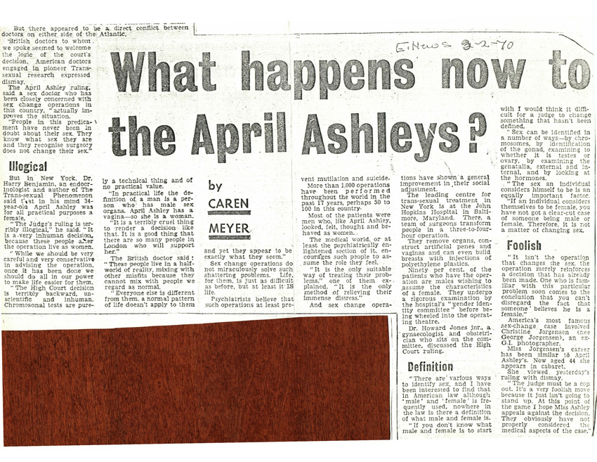 Download the full-sized PDF of What Happens Now to the April Ashleys?