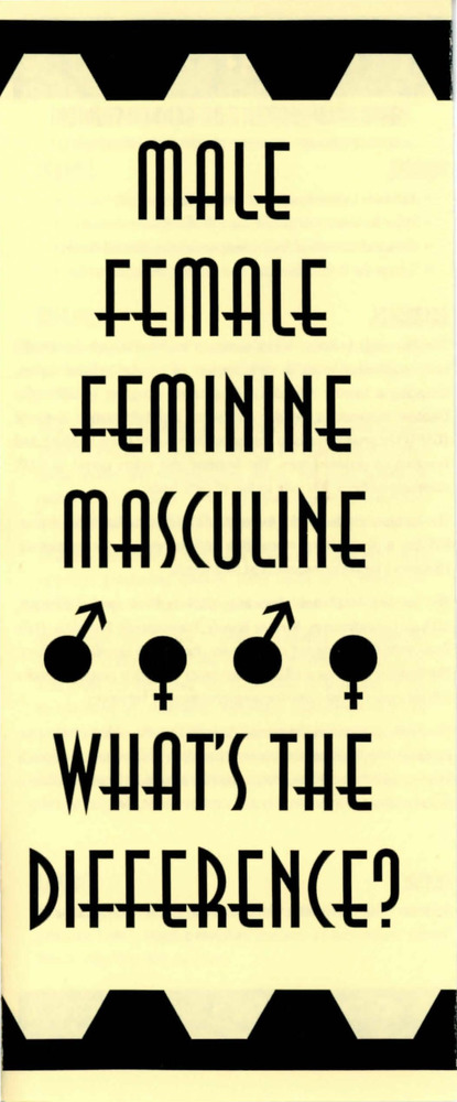 Download the full-sized PDF of Male Female Feminine Masculine: What's the Difference?
