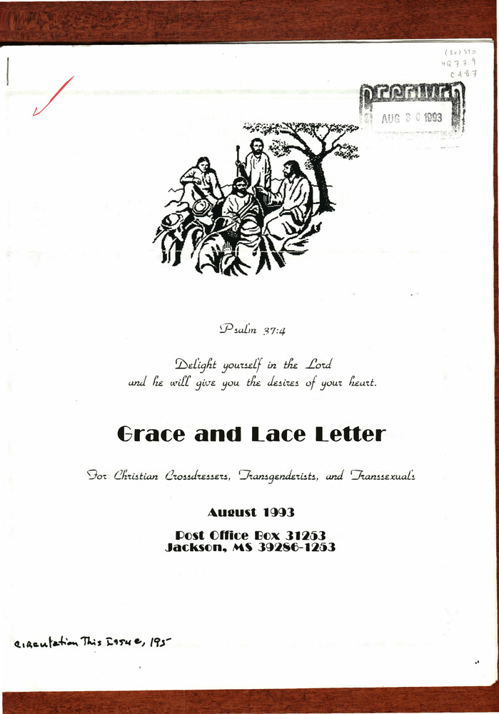Download the full-sized PDF of Grace and Lace Letter Issue B (August 30, 1993)