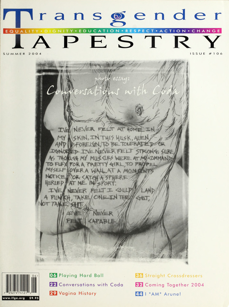 Download the full-sized image of Transgender Tapestry Issue 106 (Summer, 2004)
