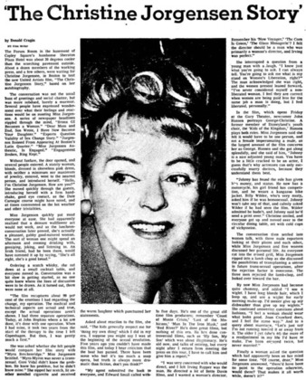 Download the full-sized image of 'The Christine Jorgensen Story'