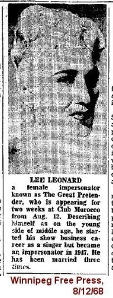 Download the full-sized image of Lee Leonard, The Great Pretender