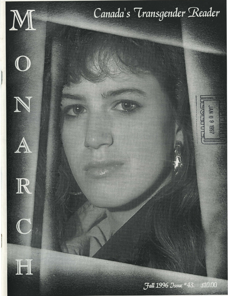 Download the full-sized PDF of The Monarch: Canada's Transgender Reader No. 43 (Fall 1996)