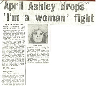 "Download the full-sized PDF of April Ashley drops ""I'm a woman"" fight"
