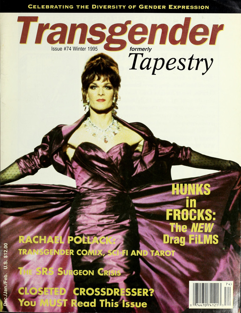 Download the full-sized image of Transgender Tapestry Issue 74 (Winter, 1995)