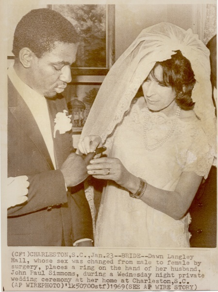 Download the full-sized image of Newspaper Clipping of Dawn Langley Hall and John Paul Simmons' Wedding