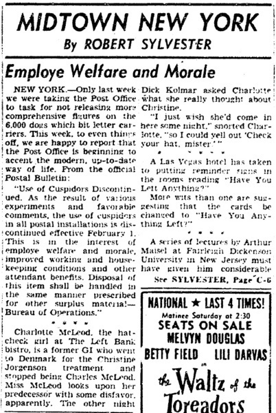 Download the full-sized image of Midtown New York: Employe [sic] Welfare and Morale