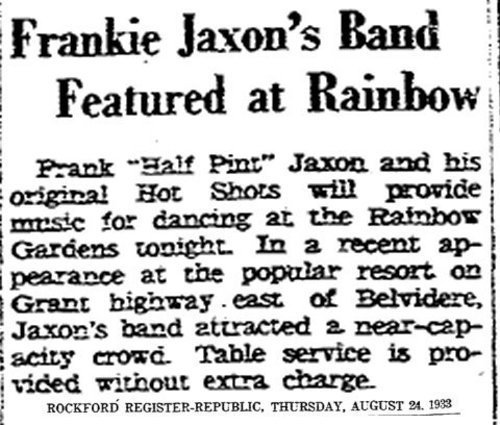 Download the full-sized image of Frankie Jaxon's Band Featured at Rainbow