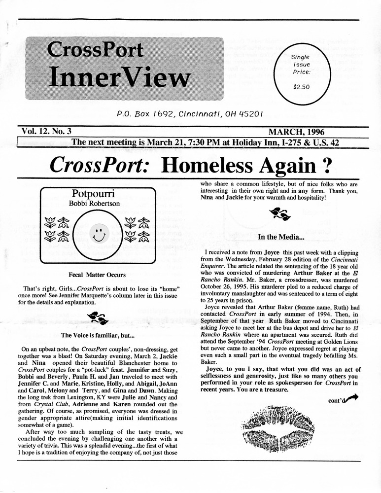 Download the full-sized PDF of Cross-Port InnerView, Vol. 12 No. 3 (March, 1996)